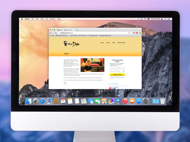 The Yosemite OS X Productivity Course