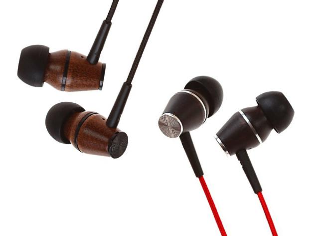 XTC In-Ear Genuine Wood Headphones