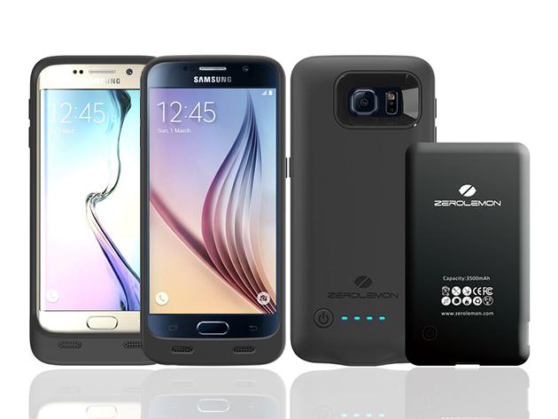 ZeroLemon Galaxy S6 3500mAh Slim Battery Case