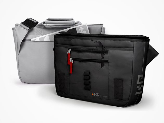 FaceOff Convertible Messenger Bag + R&B Flap (Multiple Colors)
