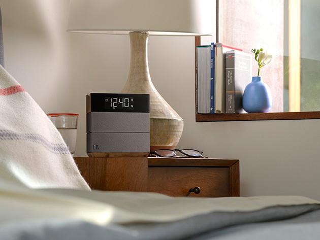 Soundfreaq 'Sound Rise' Bluetooth Speaker & Alarm Clock (Wood & Taupe)